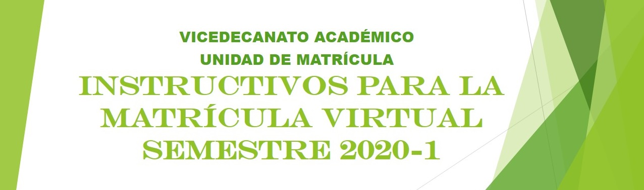 Matrícula virtual 2020-1