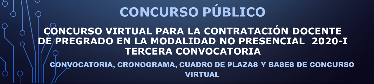 Concurso Virtual Docente - Tercera Convocatoria